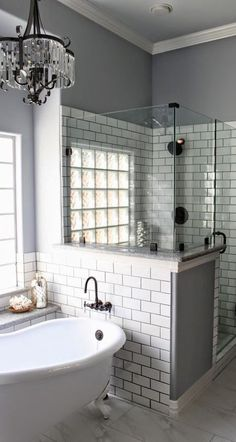 So COOL where they placed the bath tub plumbing/faucet . inspiring bathroom design idea