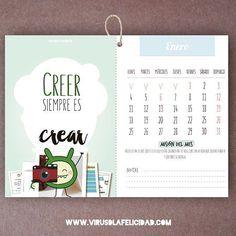 Consigue ya tu calendario propagador!  Disponible en http://ift.tt/1n71PmC  #virusdlafelicidad #calendario #2016 #felicidad