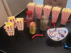 World Series Party... popcorn, Baby Ruth candy bars (aka Babe Ruth) sunflower seeds, beef jerky