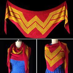 Knitted Wonder Woman Wrap - Free Pattern