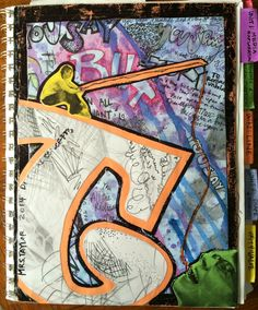 Project art-a-day: lesson: sketchbook covers- initial reaction art projects