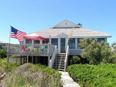 Edisto Realty - 1602 Palmetto Blvd, Classic Beach Front Cottage    This place was mentioned on Old Town Moms - the lady stays in the house. Seems far, but pinned for reference/exploring a new place.