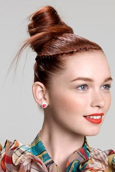 DIY Top knot hairstyle  #hairstyles #hair