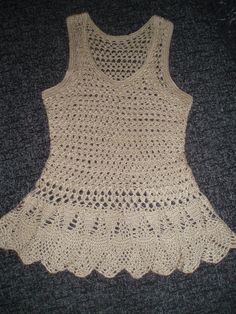 crochet summer lace cream top, photo only.  Constructed item no longer for sale on Etsy.