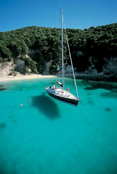 Kalokeri anchored of Anti Paxos Greece want to do this . swim in the shallows and travel by yacht. Kalokeri anchored of Anti Paxos Greece want to do this . swim in the shallows and travel by yacht. Paxos Greece, Sailboat Living, Sailing Trips, Sailing Boat, Voyage Europe, Yacht Boat, Water Crafts, Greece Travel, Greek Islands