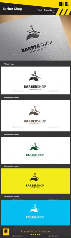Barber Shop — AI Illustrator #hair #scissors • Available here → https://graphicriver.net/item/barber-shop/9325406?ref=pxcr