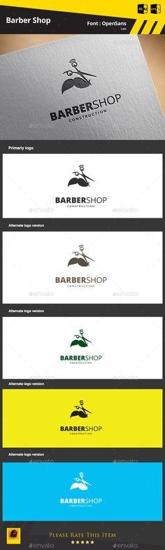 Barber Shop — AI Illustrator #hair #scissors • Available here → https://graphicriver.net/item/barber-shop/9325406?ref=pxcr