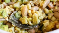 Grilled Corn Salad with White Beans and #Avocado (from @PBS Food)