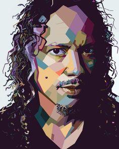 Awesome wpap Images on PicsArt Metallica Art, Kirk Hammett, Arte Pop, Picsart, Rock N Roll, Cartoon, Awesome, Anime, Amor