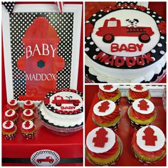 """Photo 1 of 10: Firetrucks and Dalmatians / Baby Shower/Sip & See """"Fireman Baby Shower""""   Catch My Party"""