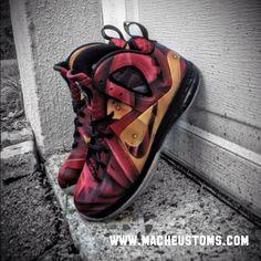 "Nike LeBron 9 Elite ""Tony Stark"" Customs"
