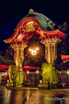 The Elephant entrance at the Zoo Berlin Germany Festival Of Lights Berlin, Festival Lights, Festivals Around The World, Travel Around The World, Around The Worlds, Dojo, Berlin Travel, Brandenburg Gate, Berlin Germany