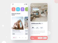 Real Estate App by Jawadur Rahman on Dribbble App Ui Design, Web Design, App Home Screen, Saint Charles, Mobile Design, Show And Tell, Mobile App, Real Estate, Software