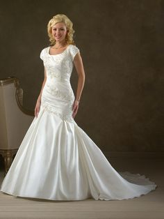 Wedding Gown Collection 2 Shanda Shipping on orders can take up to 20 weeks approx. and rushes 14 to 16 weeks. Email to check stock. TOTALLY MODEST # 1 choice for Modest Wedding Dresses with sleeves, Bridesmaids and Prom