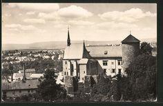 old postcard: AK Sternberg, Blick auf das Schloß, Zámek