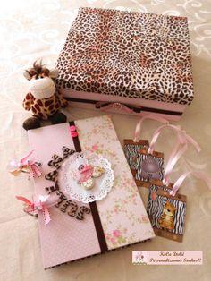 Livro de assinaturas - Tema Safári rosa kecaatelie@gmail.com