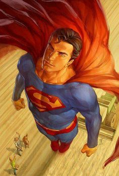 A man who can save the day and fights for everything right! Superman!