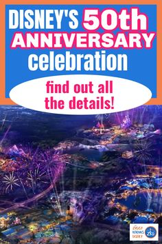 In this post from Ziggy Knows Disney, we have a complete guide to the Disney World 50th Anniversary where we will explain everything you need to know. We'll cover the 50th Anniversary dates, when it starts, how long it will last for and all the confirmed changes coming to the parks for the celebration. #disney #disneyworld #disneyvacation #disneytravel #disneycelebration #anniversary Disney World Secrets, Disney World News, Disney World Hotels, Walt Disney World Vacations, Disney World Tips And Tricks, Disney Travel, Disney On A Budget, Disney World Vacation Planning, Disney Day
