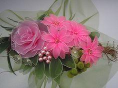 rózsaszín virág  csokor , Dekoráció, Esküvő, Meska