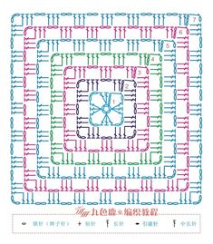 I love handmade Motifs Granny Square, Granny Square Crochet Pattern, Crochet Diagram, Crochet Chart, Crochet Squares, Crochet Hooks, Crochet Bedspread Pattern, Crochet Motif Patterns, Crochet Designs