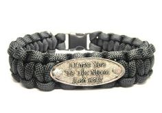 I Love You To The Moon and Back Paracord Bracelet - Easter gifts for boyfriend