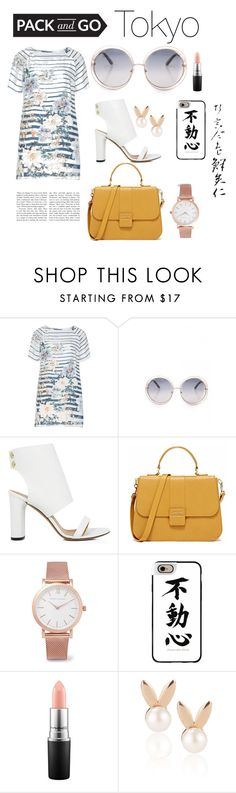 """""""Take me to Tokyo"""" by sieratrujillo on Polyvore featuring Open End, IRO, Larsson & Jennings, Casetify, MAC Cosmetics, Aamaya by priyanka, tokyo and Packandgo"""