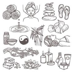 Illustration of Spa therapy beauty health care alternative medicine sketch icons set isolated vector illustration vector art, clipart and stock vectors. Sketch Icon, Sketches, Spa Art, Spa Menu, Spa Therapy, Natural Beauty Remedies, Doodle Icon, Watercolor Illustration, Vector Art