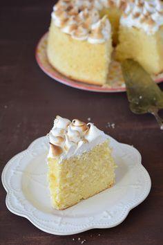 Gâteau mousseline au citron meringué {lemon chiffon cake}                                                                                                                                                      Plus