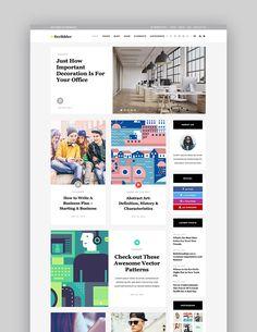 Scribbler - A Simple Theme for Blogs and Magazines News Website Design, News Web Design, Website Design Layout, Layout Design, Ux Design, Minimal Web Design, Modern Web Design, Layout Site, Web Layout
