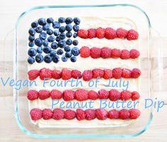 Vegan Fourth of July Peanut Butter Dip