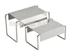 5 sets Mirror stainless steel shoes holder support keeper metal shoes showing display rack stand