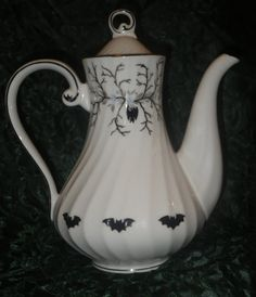 Spooky bat coffee/teapot by asirons on Etsy, $50.00