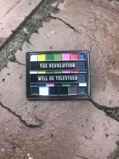 The Revolution Will Be Televised Lapel Pin – Pinversation
