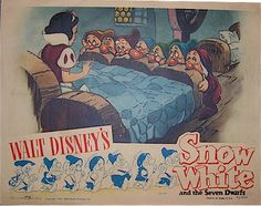 The Walt Disney Collection: Original Vintage Movie Posters, Toys, and Rare Memorabilia Vintage Disney Posters, Disney Movie Posters, Movie Poster Art, Vintage Movies, Disney Love, Disney Art, Walt Disney, Disney Stuff, Snow White Characters