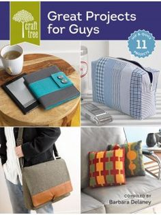 Choose from 11 hip and quick sewing projects for the man in your life. Find patterns for clothing, accessories, and more: Circuit Scarf by Kevin Kosbab e-Reader Cover by Brett Bara Travel Tie Portfoli