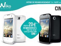 Offre de remboursement Wiko d'un montant de 20€.