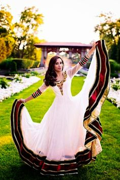 Love the width of the skirt. Would be great for Spanish style dancing. Styled Shoot featuring Charisma Designer Studio and R. Eid Dresses, Indian Dresses, Dresses 2014, Dresses Online, Bridal Dresses, Indian Attire, Indian Wear, Pakistani Outfits, Indian Outfits