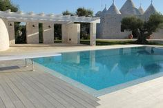 Accoya® wood used for decking for private residence in Southern Italy. #accoya #wood