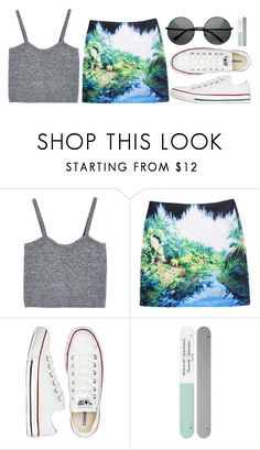 """PARADISE"" by kawrose02 ❤ liked on Polyvore featuring Converse and Deborah Lippmann"