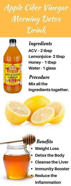 Apple Cider Vinegar Detox #HolisticDetoxDiet