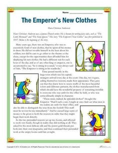 The Emperor's New Clothes - Free, Printable Reading Comprehension Set