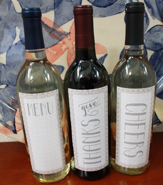 FREE Printable Thanksgiving Wine Label Trio