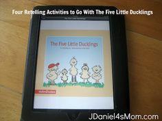 Four Retelling Activities For Five Little Duckling #readforgood #readathon