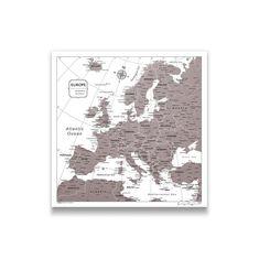 Europe Push Pin Travel Maps! Here is our selection of the most popular customizable push pin maps of the world. Document your world travels today with Conquest Maps! All You Need Is, Thing 1, Dark Brown Color, Us Map, Travel Maps, Retirement Gifts, One Design, Color Splash, Vintage World Maps