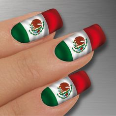 Mexico independence nails nails pinterest nail wraps flag style mexico made by glamstripes prinsesfo Gallery