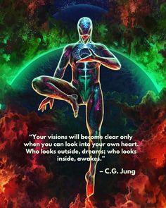 Spiritual Enlightenment, Spiritual Wisdom, Spiritual Awakening, Positive Affirmations, Positive Quotes, Wisdom Quotes, Life Quotes, C G Jung, Stage Yoga