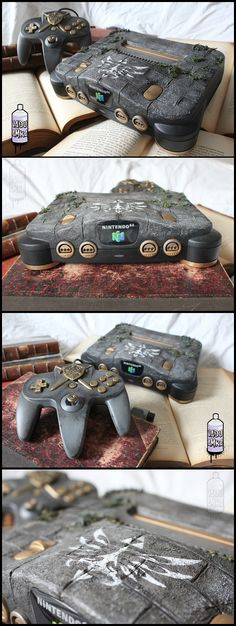 Nintendo 64 Old relic - Zelda theme custom designed N64 by french fan Vadu Amka | #DIY #N64