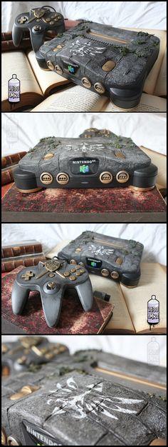 Nintendo 64 Old relic - Zelda theme custom designed N64 by french fan Vadu Amka | #DIY #N64
