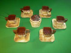 Ceramica Pigmentos: JUEGO CUADRADO Pancakes, Pudding, Breakfast, Desserts, Food, Sugar Bowls, Dishes, Games, Morning Coffee
