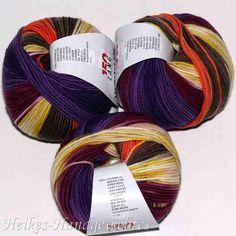 Merino 120 Color Gelb-Orange-Beere-Braun Lang Yarns